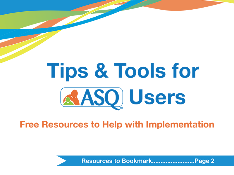 Tips & Tools for ASQ Users