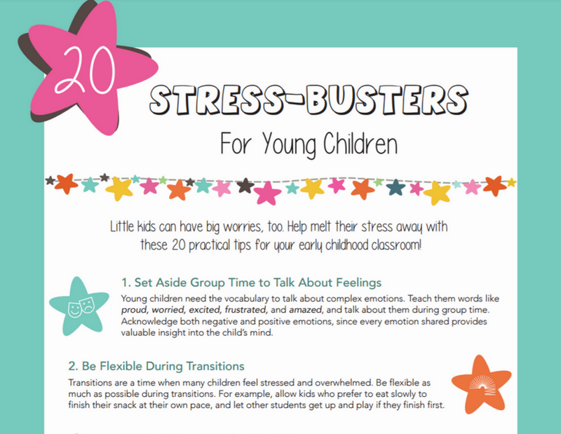 20 Stress-Busters for Young Children